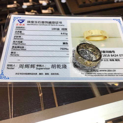 18k luxury jewelry with certificate from Blingdo.com