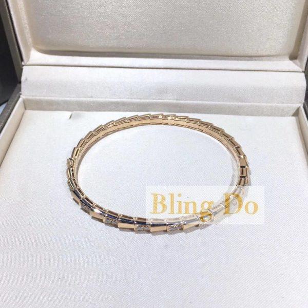 Bvlgari serpenti one-coil bracelet with diamond