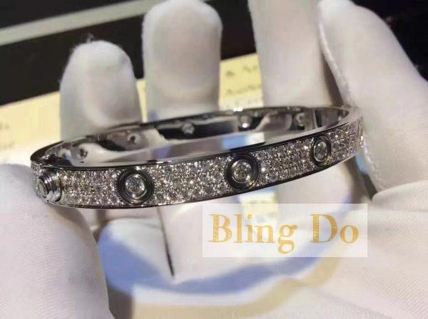Cartier LOVE BRACELET DIAMOND-PAVED WHITE GOLD FULL DIAMONDS
