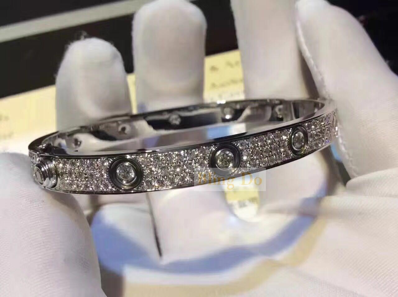Cartier LOVE BRACELET DIAMOND-PAVED WHITE GOLD FULL DIAMONDS