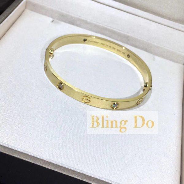 Cartier LOVE BRACELET with 4 DIAMONDS YELLOW GOLD