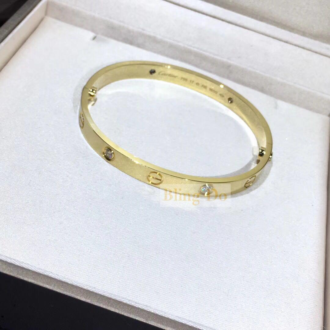 Cartier LOVE BRACELET with 4 DIAMONDS YELLOW GOLD