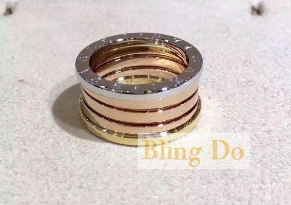 Classic Style Bvlgari B.zero1 ring in 18 kt rose and white gold