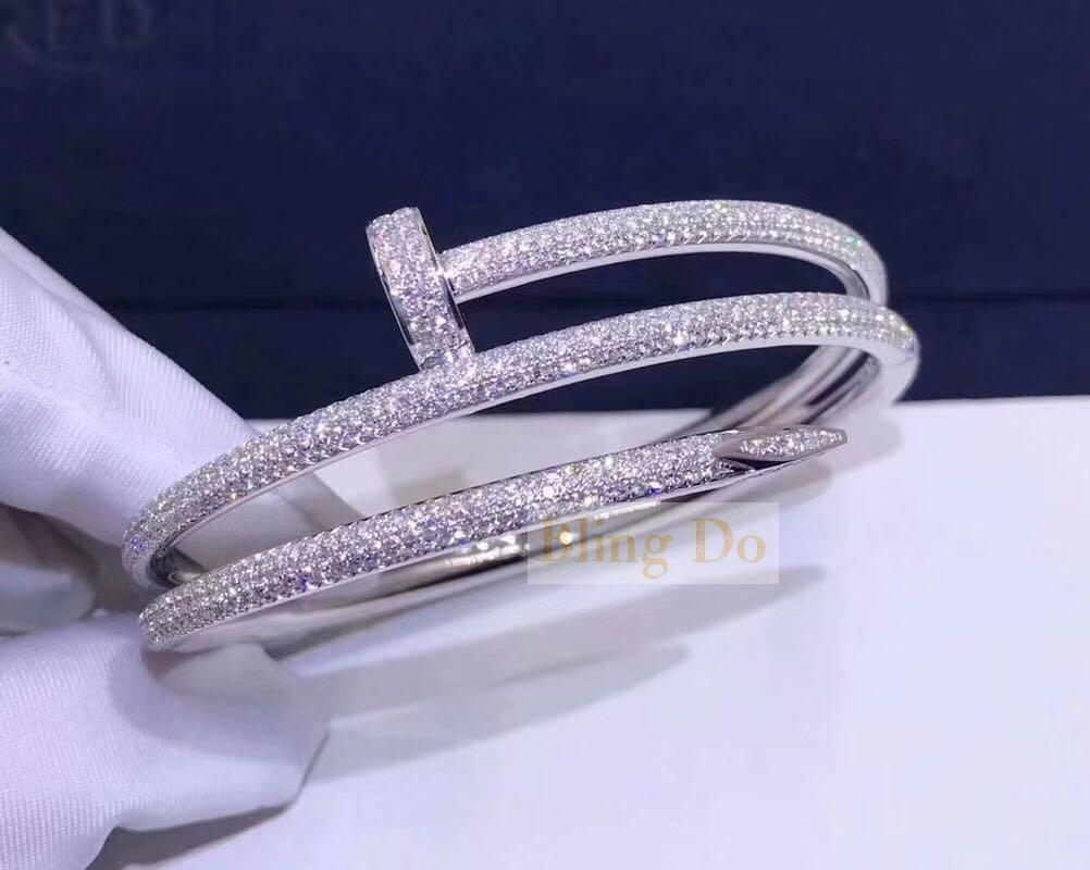 JUSTE UN CLOU BRACELETWHITE GOLD DIAMONDS