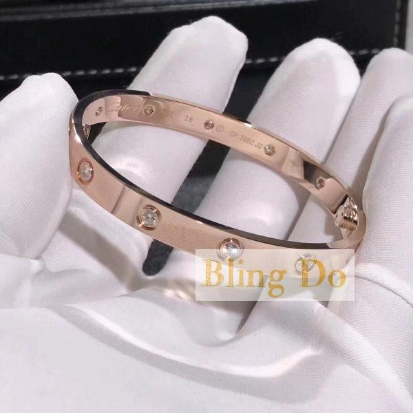 Cartier LOVE BRACELET with 10 DIAMONDS PINK GOLD
