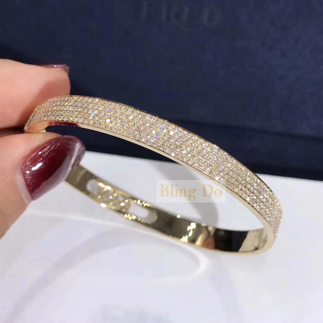 Messika Move Joaillerie Pavé Diamonds Bangle BRACELET - YELLOW GOLD