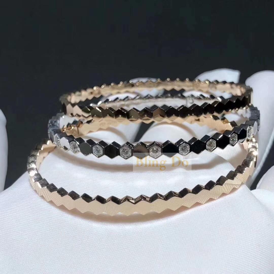 Inspired 18k Gold Chaumet Bee My Love diamond bracelet