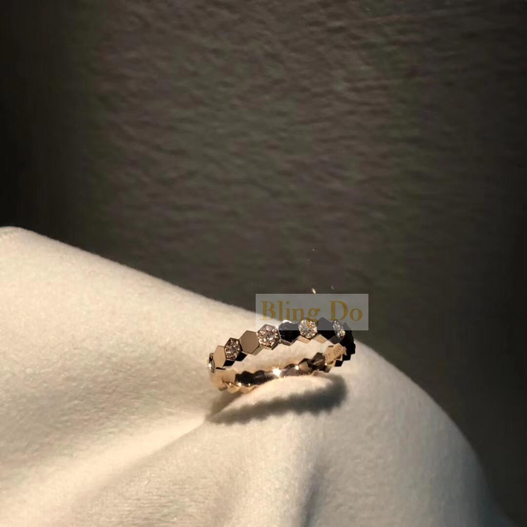 Solid Real 18k Gold Chaumet Bee My Love diamond engagement ring