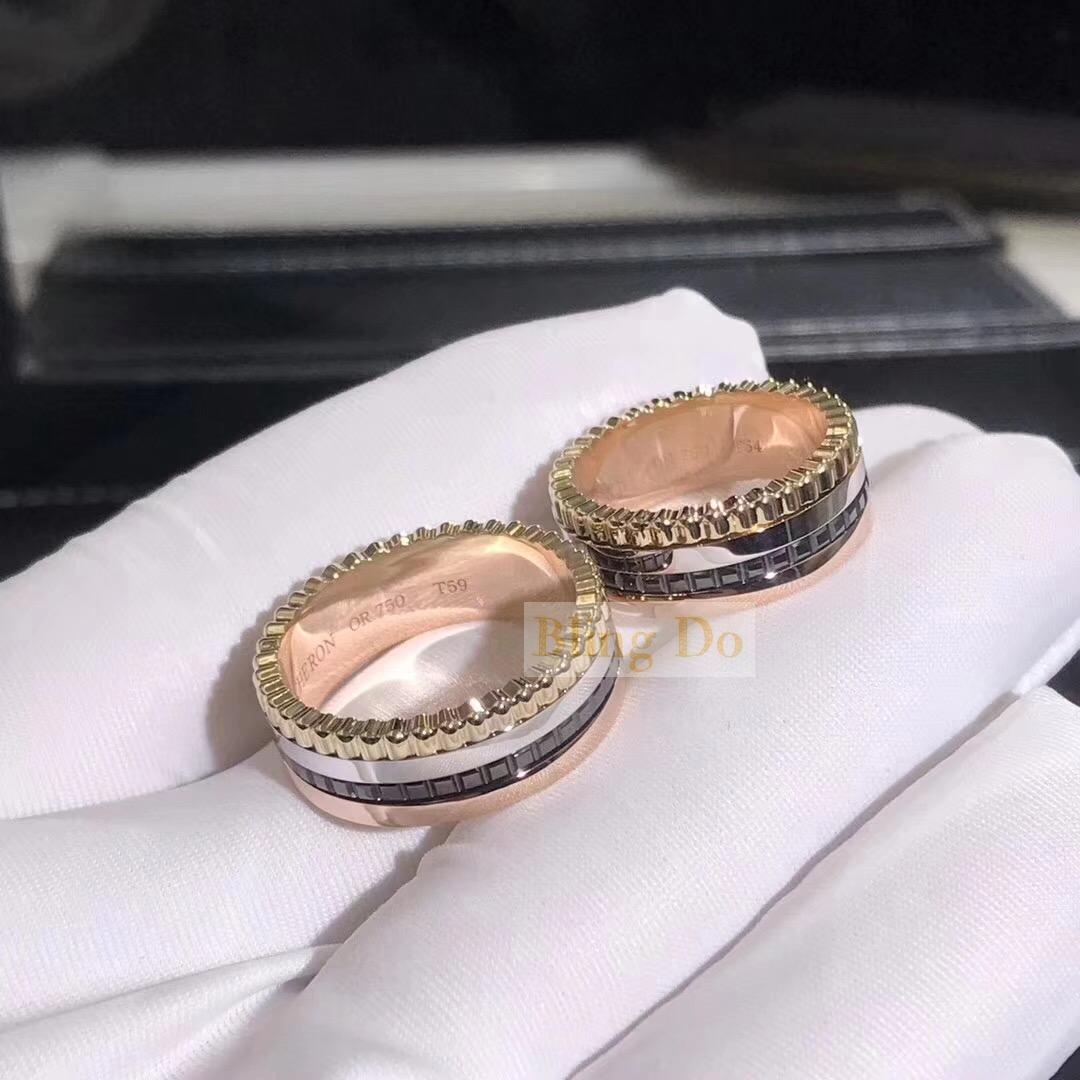 Boucheron QUATRE CLASSIQUE SMALL RING in yellow gold, white gold, pink gold and brown PVD