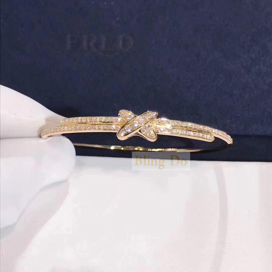 Chaumet Jeux de Liens 18KT Yellow gold bracelet brilliant-cut diamonds