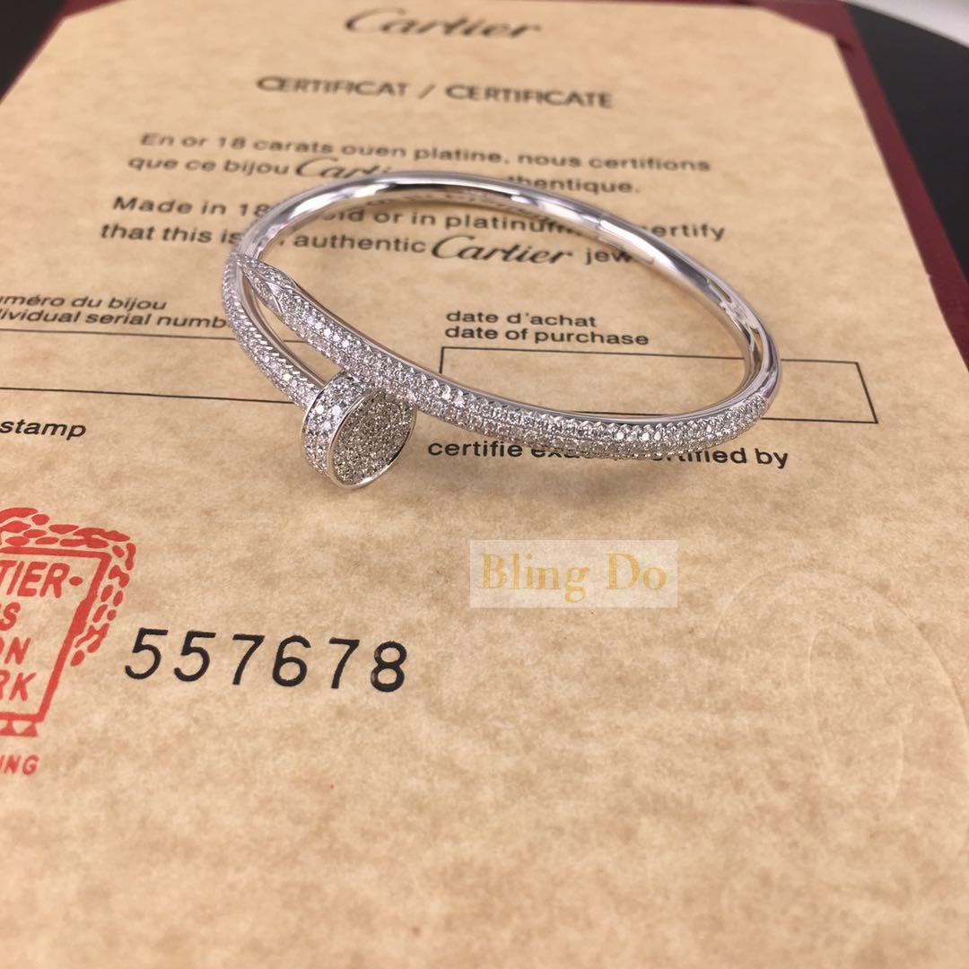 Cartier JUSTE UN CLOU BRACELET 18K WHITE GOLD, DIAMONDS