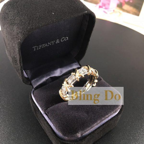 Tiffany & Co. Schlumberger Sixteen Stone Ring in 18K yellow gold and Platinum