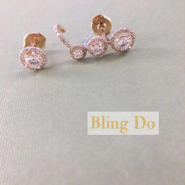 Messika Joy Trio EARRINGS - 18K YELLOW GOLD with Diamond