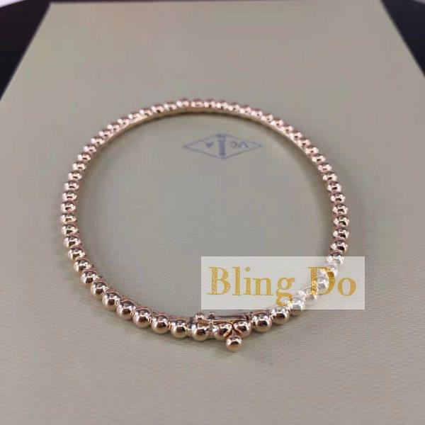 VCA Perlée pearls of 18k yellow gold bracelet medium model