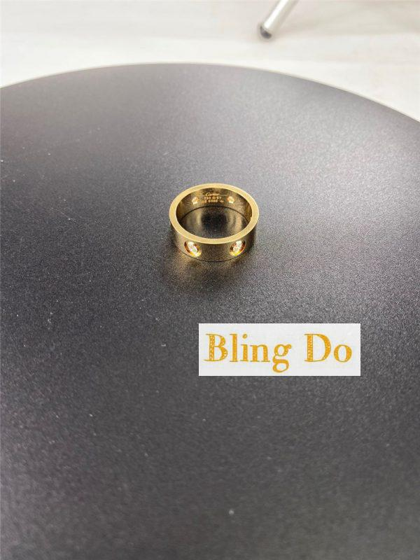 Cartier 18K Yellow GOLD Love Ring with Six DIAMONDS