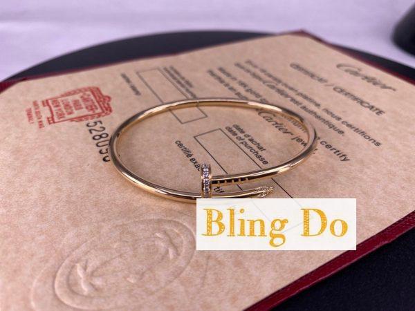 Juste Un Clou Cartier SM in 18K Yellow Gold Bracelet with Diamonds