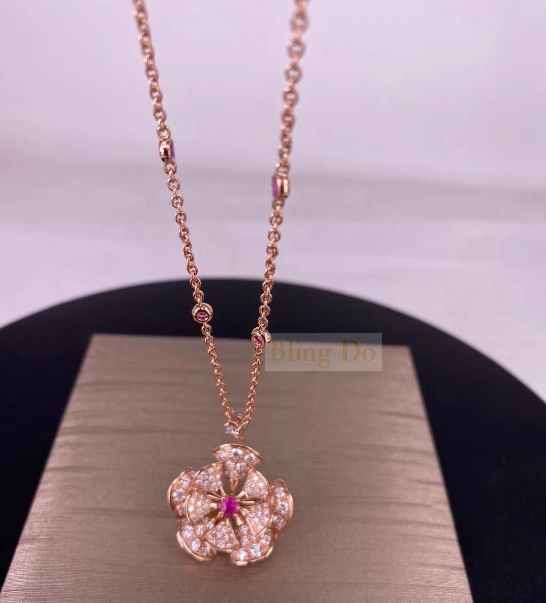 Bvlgari DIVAS' DREAM Necklace in 18KT Rose Gold with Gemstones