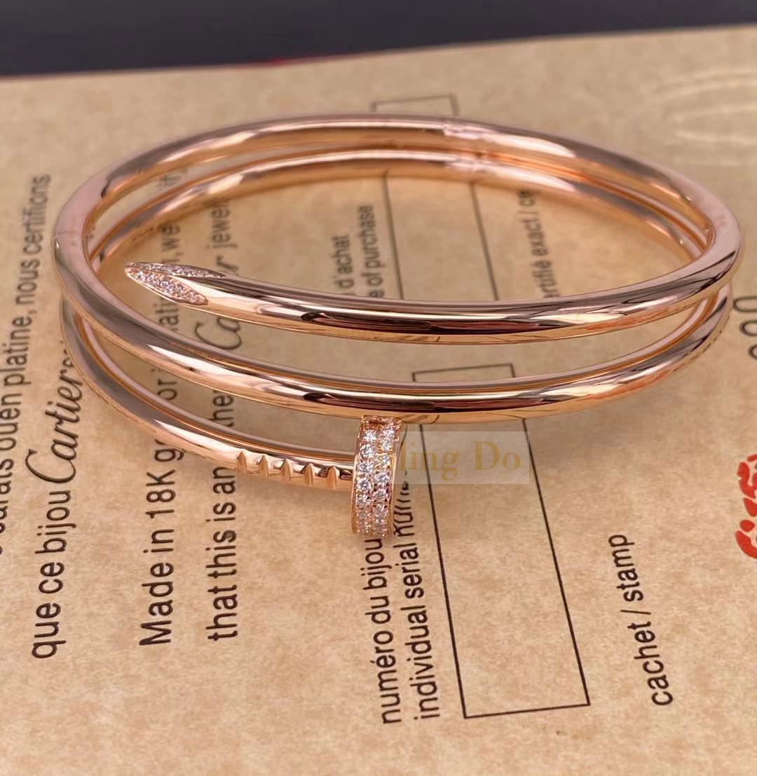 Juste Un Clou Au750 Pink Bracelet with Diamond