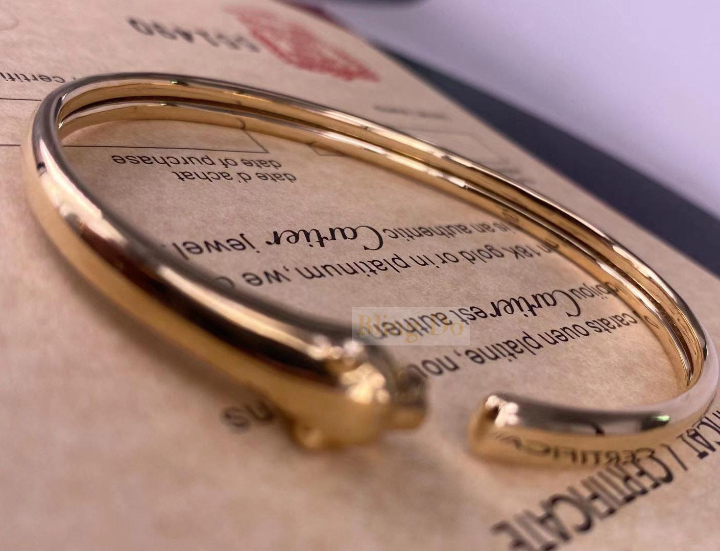 Panthère De Cartier 18K Yellow Gold Bracelet with Onyx and Tsavorite Garnets